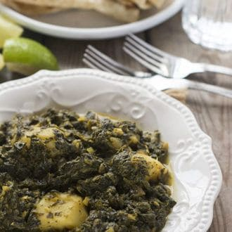 Aloo Palak (Potato and Spinach Curry)