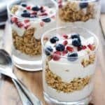 Blueberry Pomegranate Breakfast Parfait