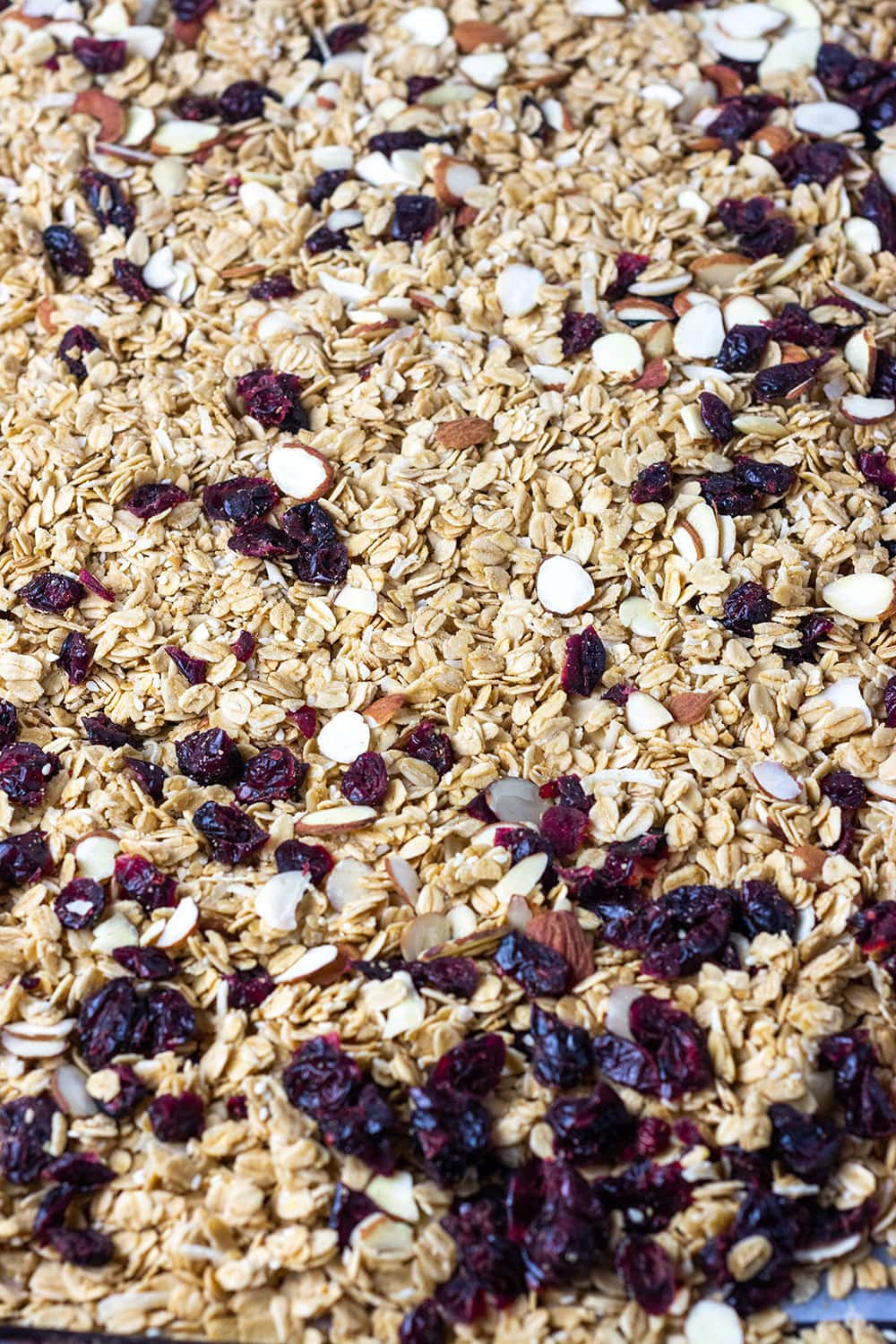 granola on tray
