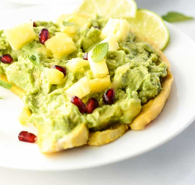 Pineapple Guacamole Baked Plantain