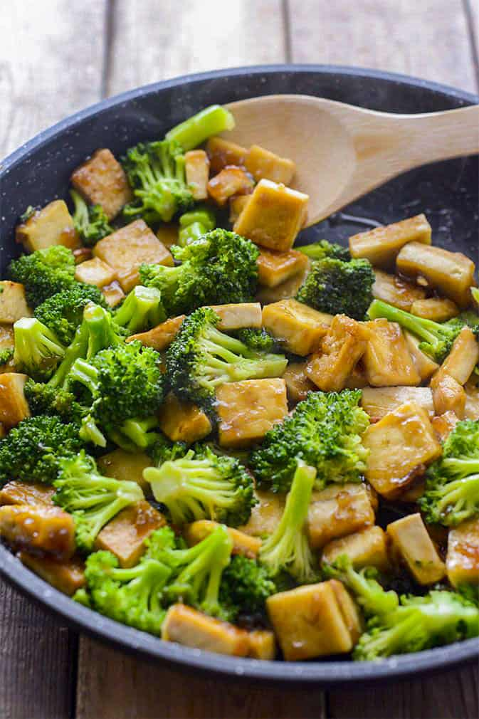 Tofu Broccoli Skillet