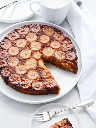 Banana Upside Down Cake (Gluten-Free and Vegan)