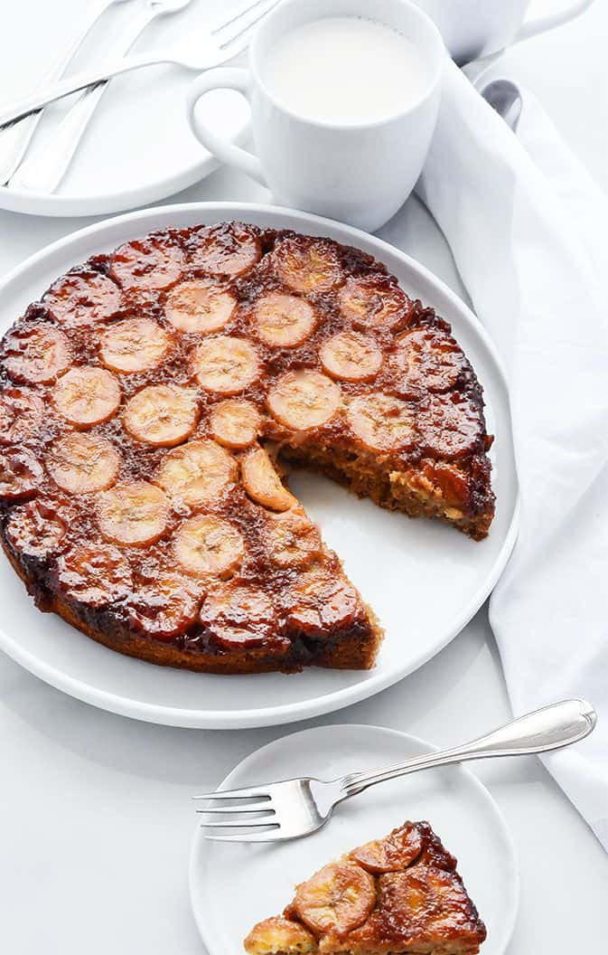 Banana Upside Down Cake (Gluten-Free and Vegan)