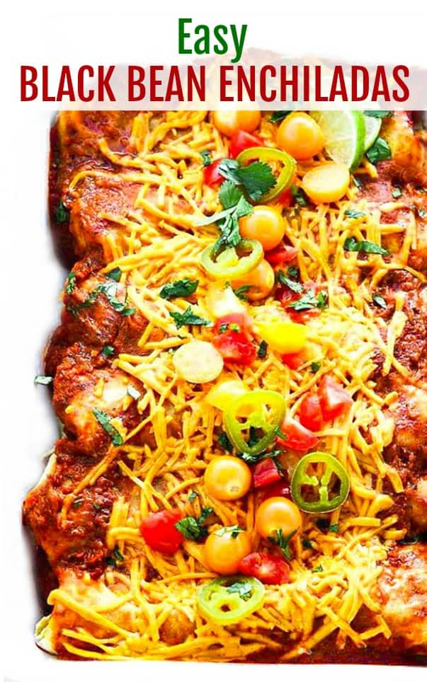 Black Bean Enchiladas Recipe