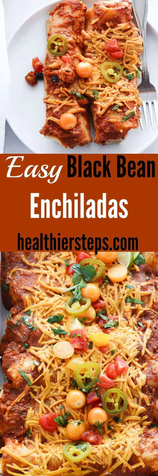 Easy Black Bean Enchiladas