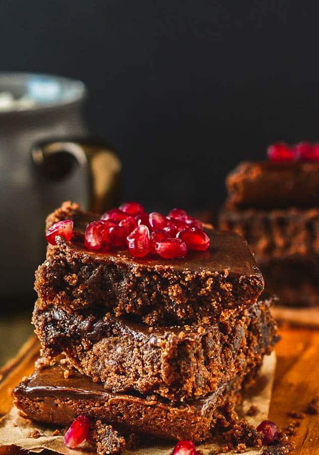 Gluten-Free Vegan Carob Brownies