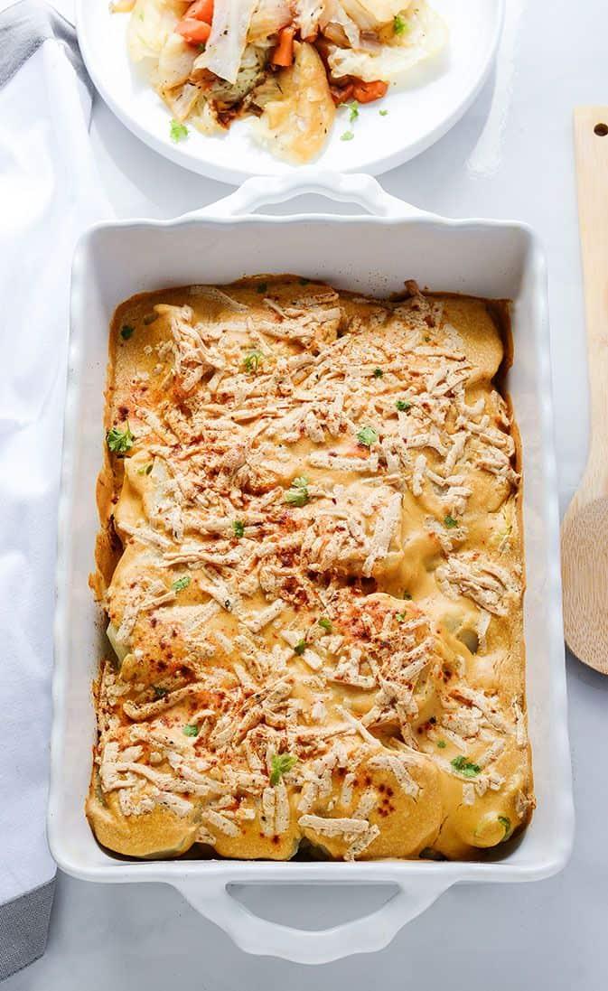 Vegan Cheesy Scalloped Potatoes