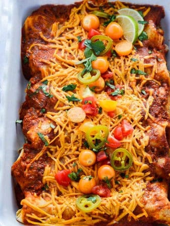Easy Black Bean Enchiladas
