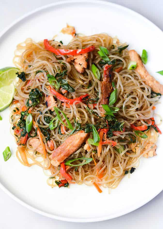 Japchae (Korean Stir Fried Noodles)