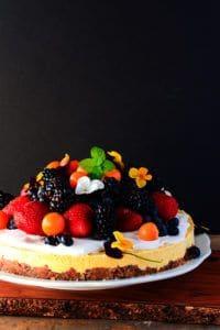 Mango Cheesecake Recipe - Healthier Steps