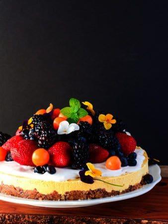 Gluten-Free Vegan Mango Cheesecake