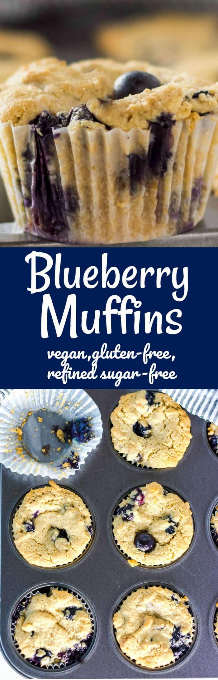Blueberry Muffins Vegan Gluten-Free, Refined-Sugarfree