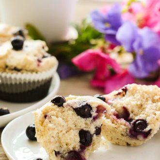Gluten Free Vegan Blueberry Muffins