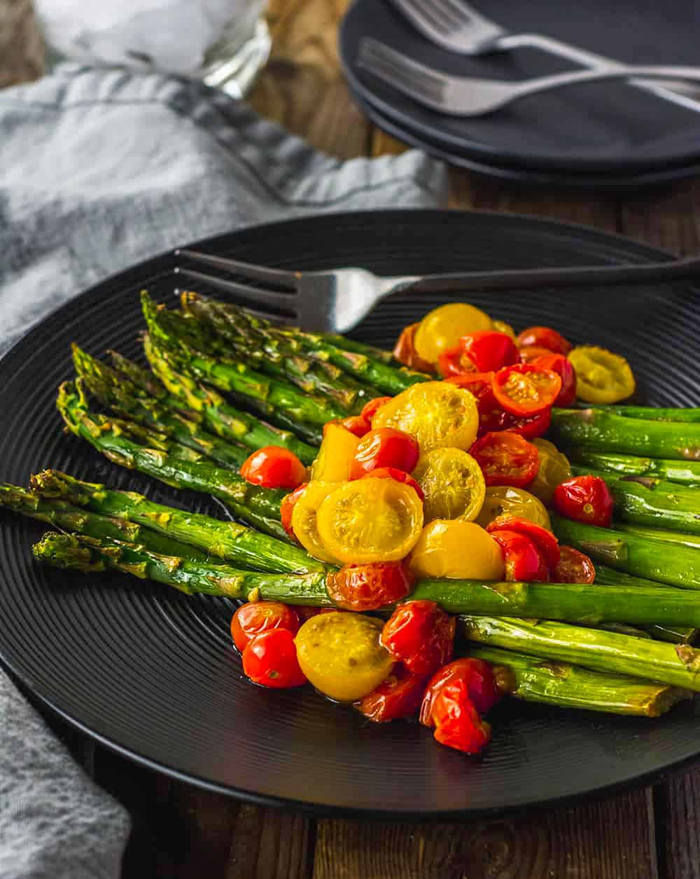 Oven Roasted Asparagus and Tomatoes