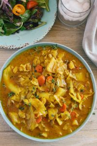 Curry Cabbage - Healthier Steps