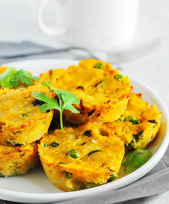 Potatoes and Peas Samosa Muffins