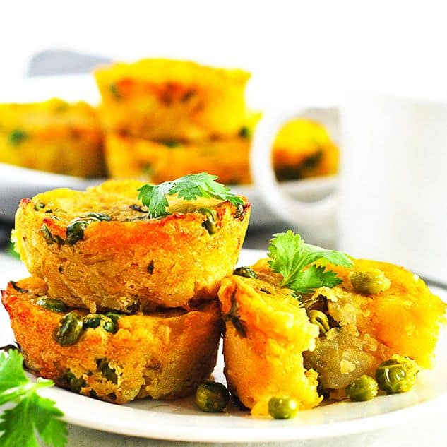 Potato And Samosa Muffins