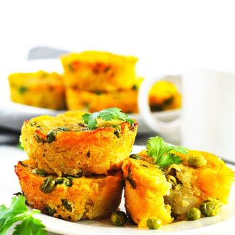 Potato And Peas Samosa Muffins