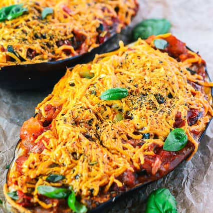 Baked Stuffed Eggplant (Vegan, Gluten Free)