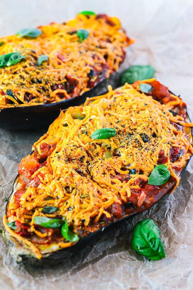 Stuffed Baked Eggplants