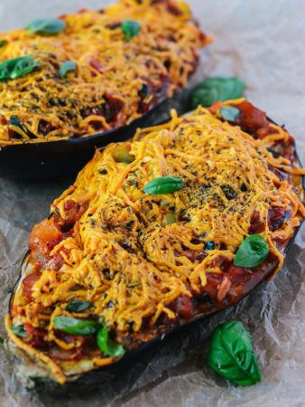 Baked Stuffed Eggplant (Vegan, Gluten-Free_