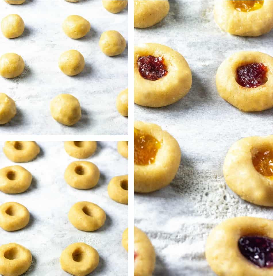 Vegan Thumbprint Cookies Steps