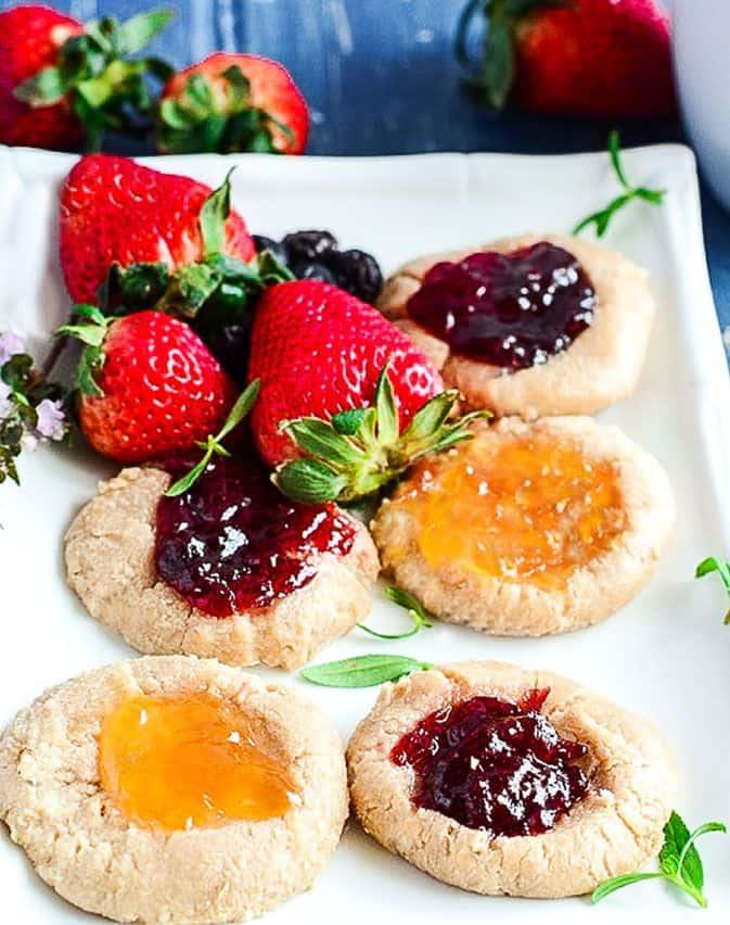 Thumbprint Cookies (Gluten-Free, Vegan)