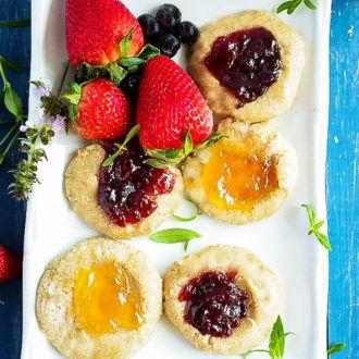 Thumbprint Cookies (Gluten-Free Vegan)