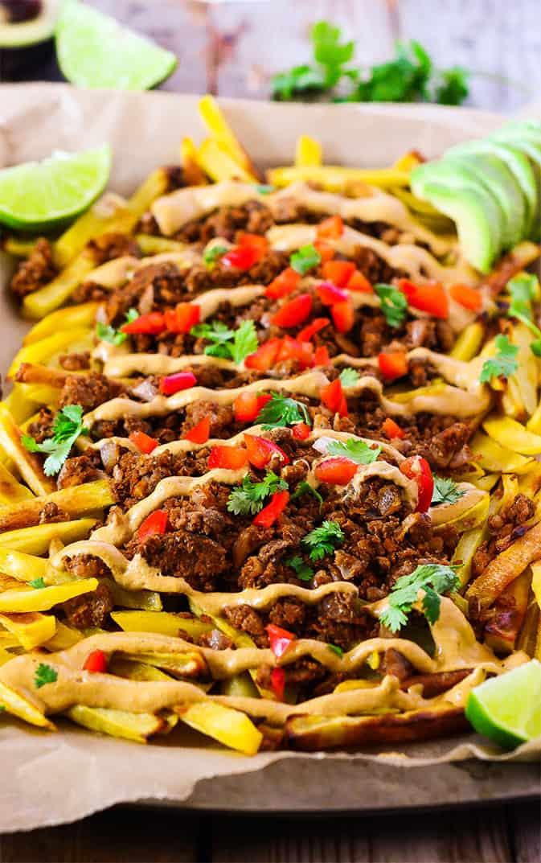 Lentil Taco Fries