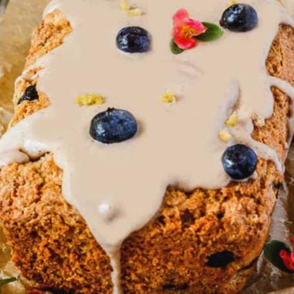 Vegan Gluten-Free Blueberry Lemon Bread