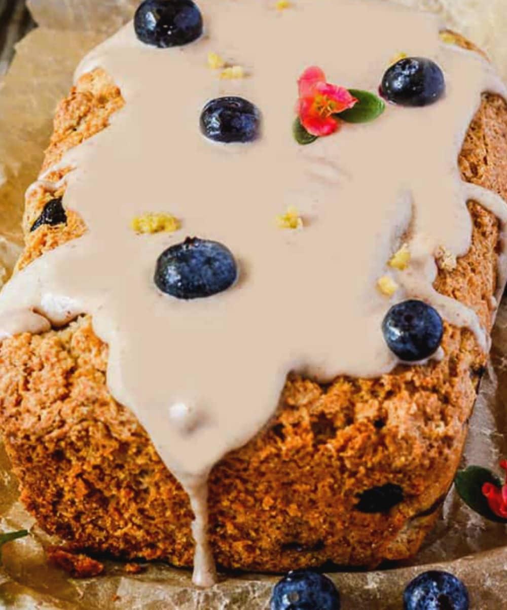 Vegan Gluten-Free Blueberry Lemon Bread