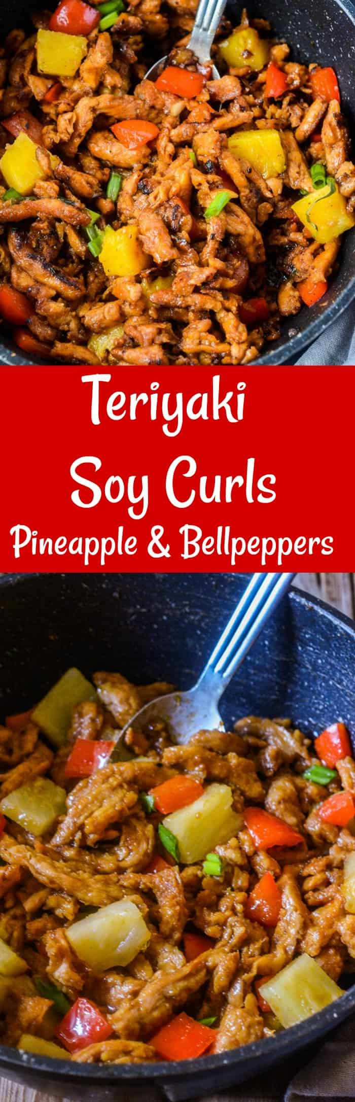 Teriyaki Soy Curls with Pineapple and Bell Pepper