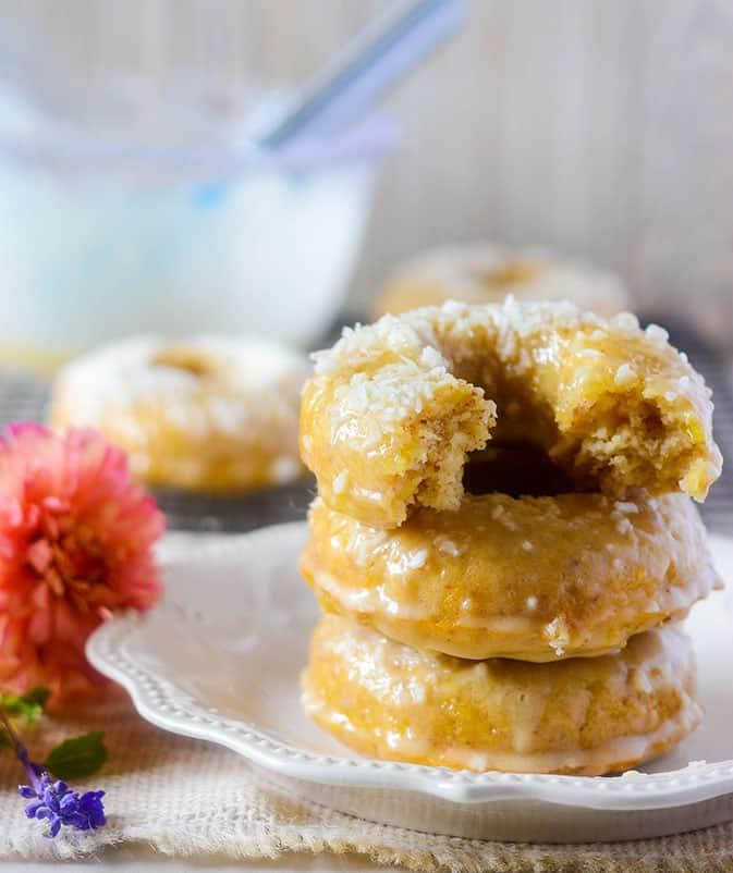 Vegan Pineapple Coconut Donuts
