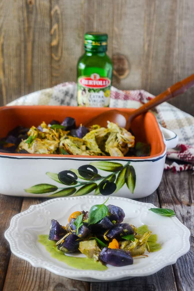 Sweet Potato and Jackfruit with Pesto