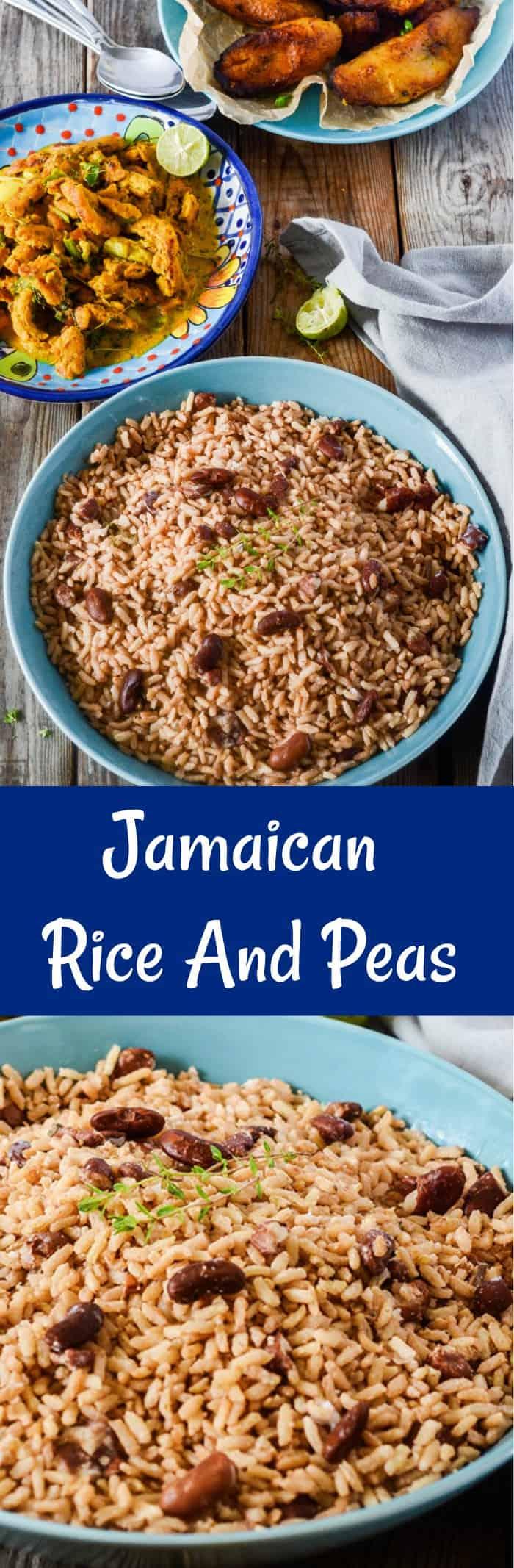 jamaican rice and peas recipe  healthier steps