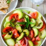 Cucumber Tomato And Avocado Salad