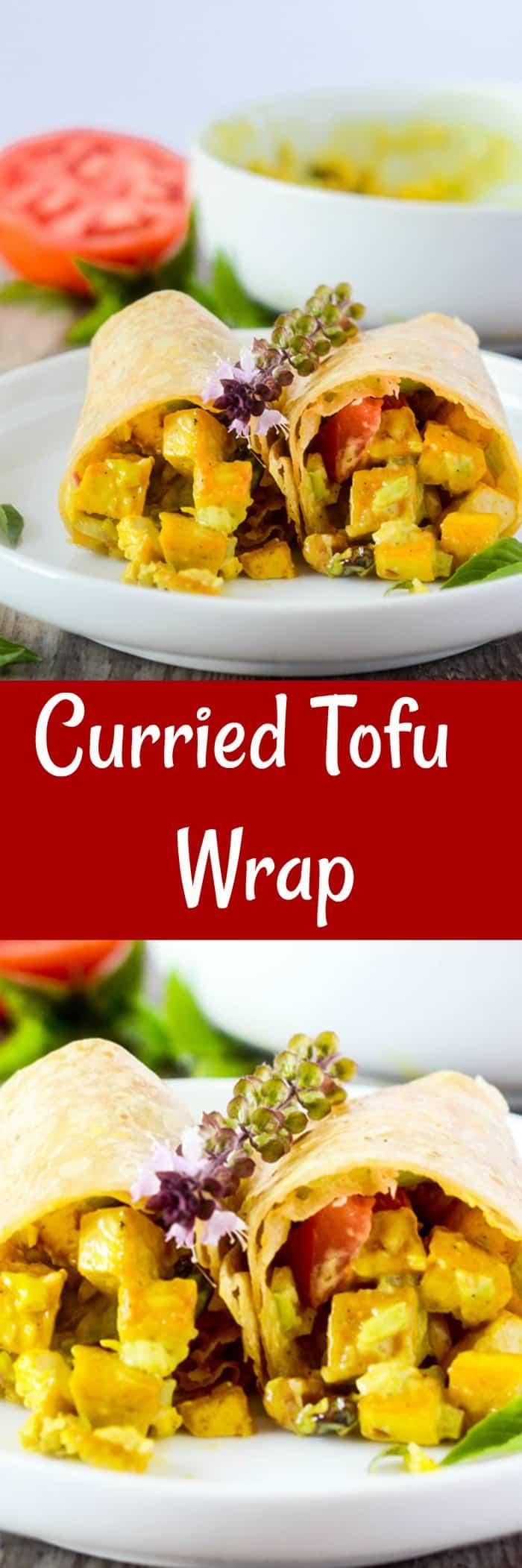Curried Tofu Wrap