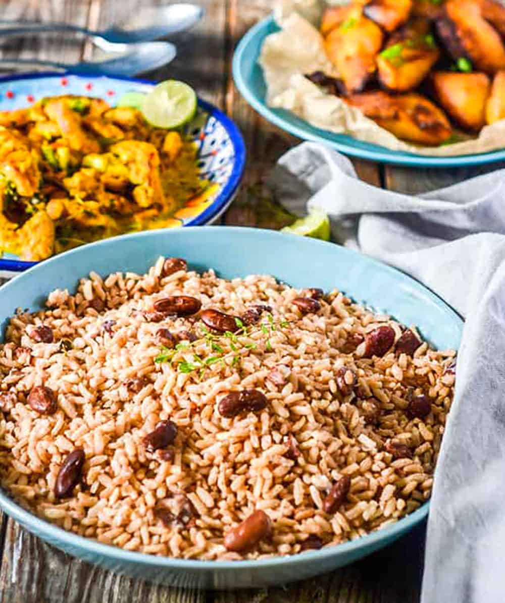 Jamaican rice and peas recipe healthier steps jamaican rice and peas recipe forumfinder Images