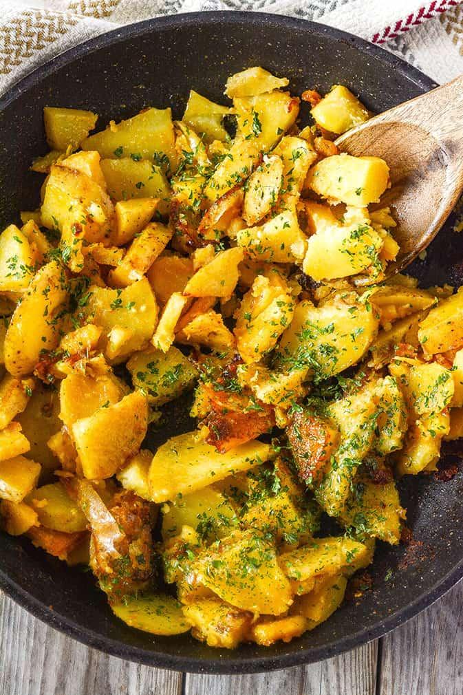 Vegan Skillet Breakfast Potatoes