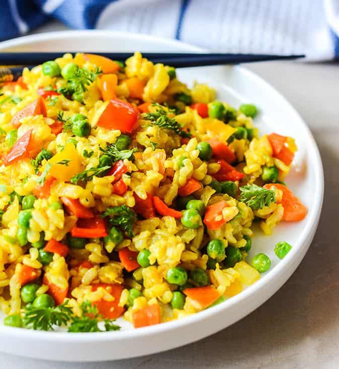 Easy vegan fried rice healthier steps easy vegan fried rice ccuart Choice Image