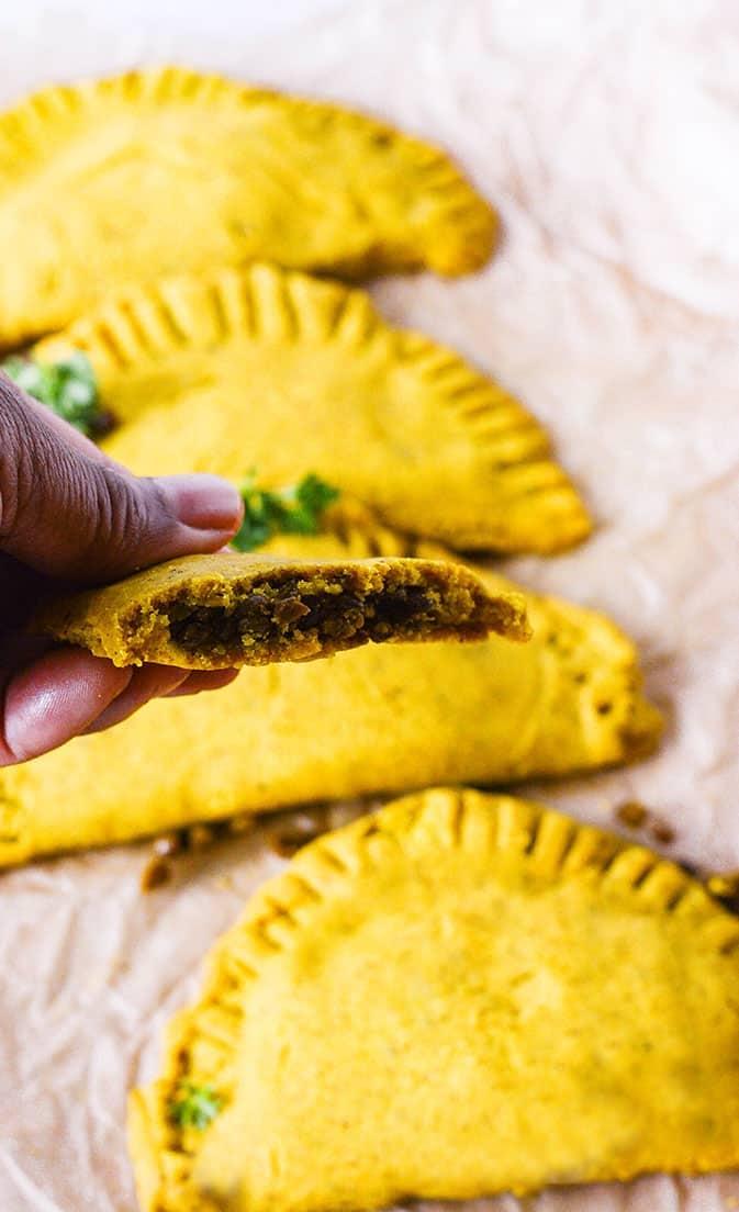 Jamaican Lentil Patties (Gluten-Free, Vegan)