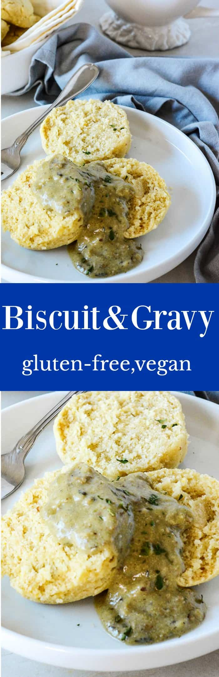 Biscuit And Gravy (Gluten-Free, Vegan)