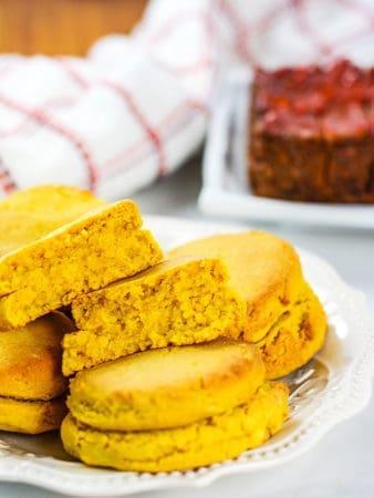 Pumpkin Biscuits in a plate
