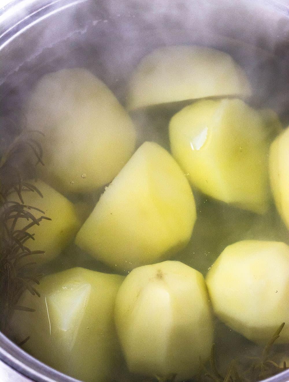 Vegan Garlic Rosemary Mashed Potatoes