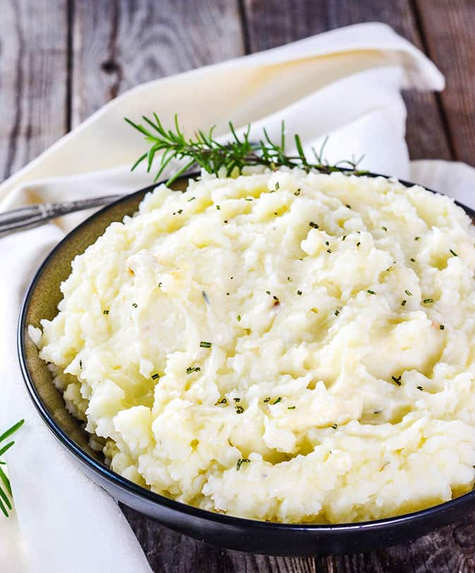 Vegan Garlic Rosemary Mashed Potatoes