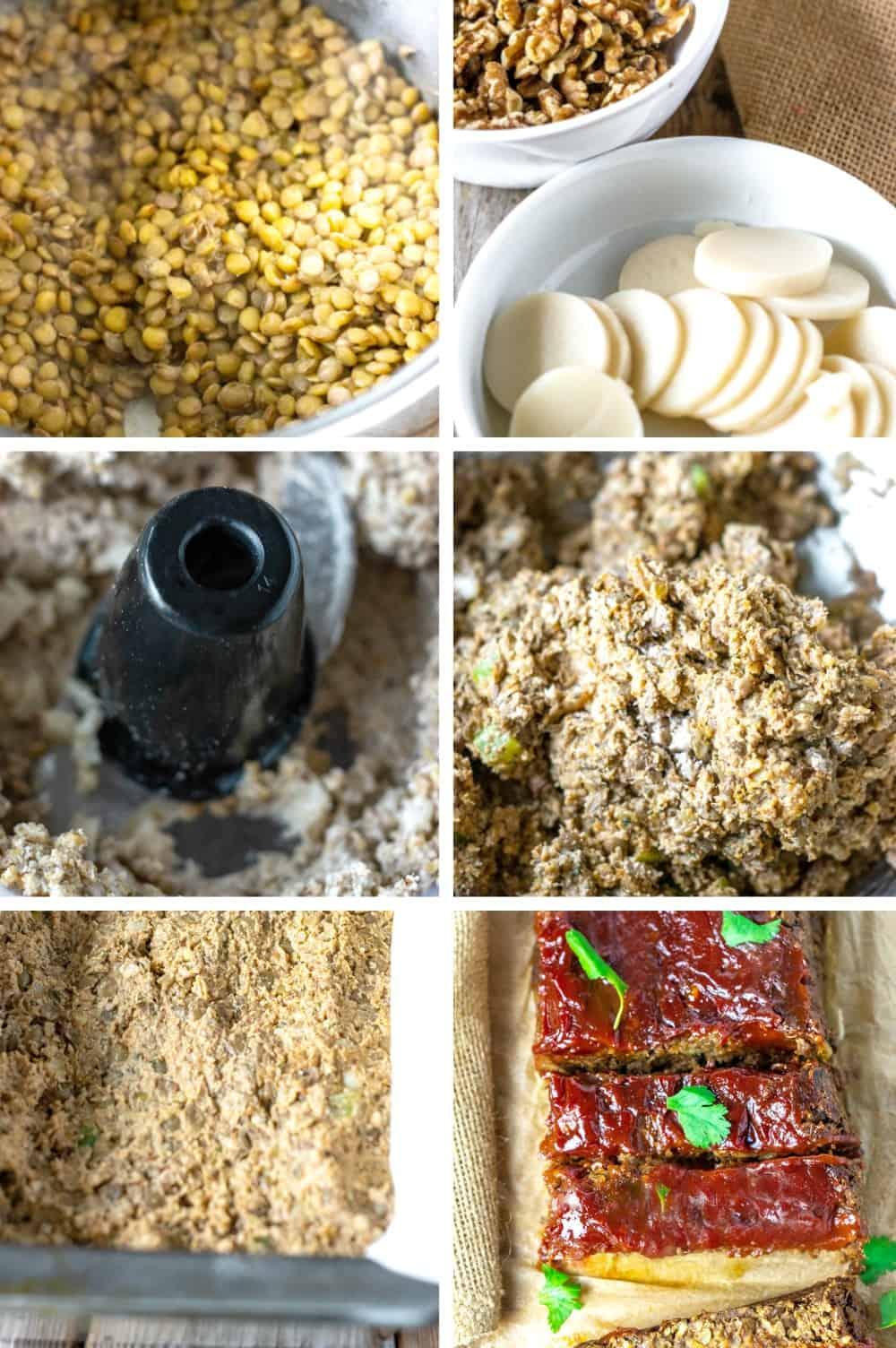 Vegan Lentil Loaf Steps