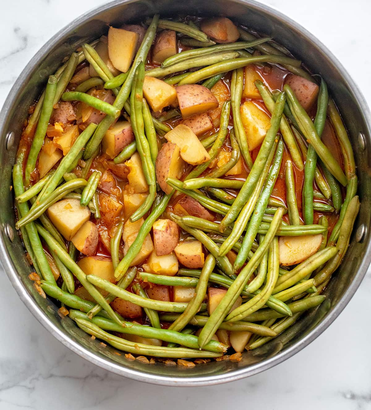 Vegan Southern Green Beans and Potatoes