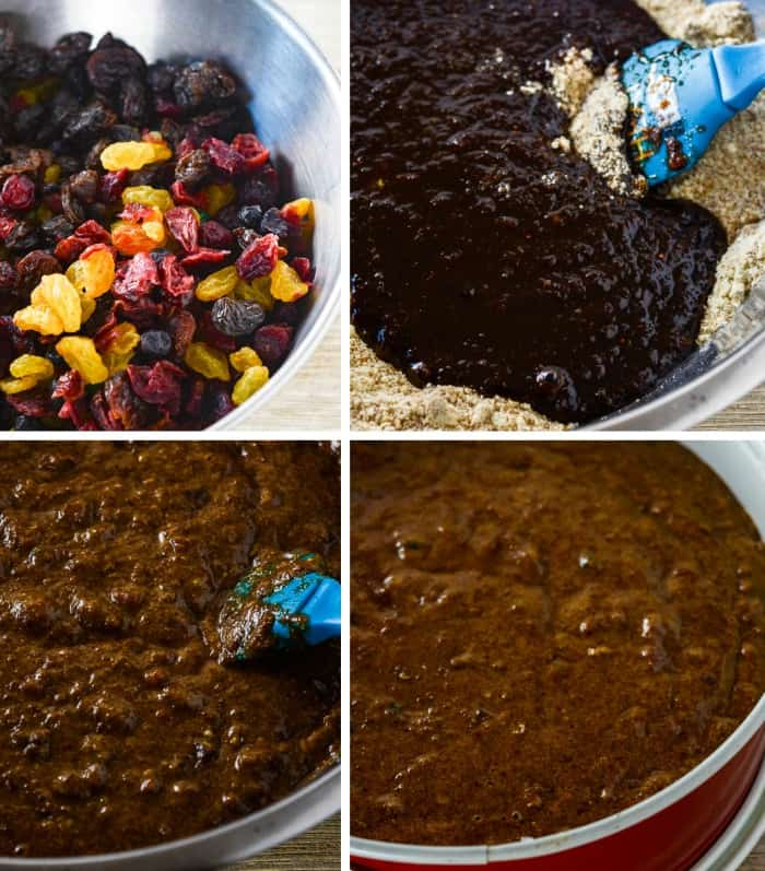 step by step images of Jamaican Fruit Cake