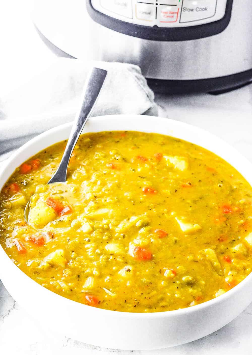 Instant Pot Vegan Split Pea Soup