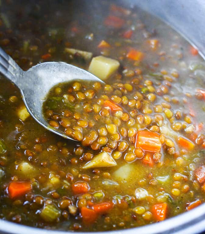 Instant Pot Vegan Lentil Soup